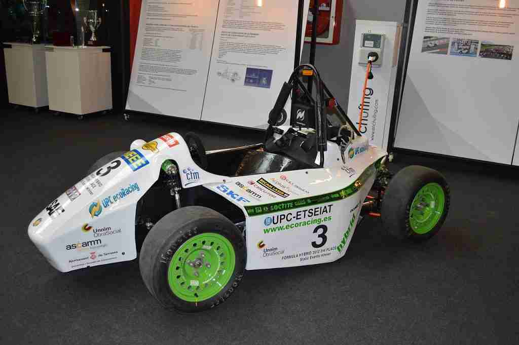 UPC ecoRacing ecoR2 2011 EVO at the Museum of Science and Technology of Catalunya